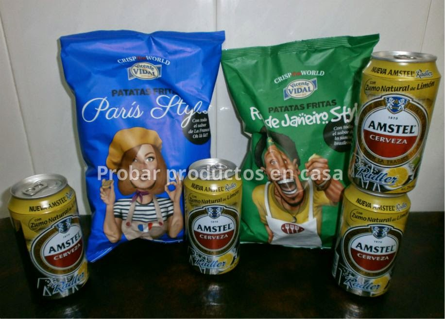 "Disfrutabox: Patatas fritas ""Crisp the World"" Vicente Vidal y Amstel Radler"