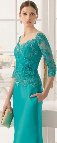 Vestidos elegantes verdes
