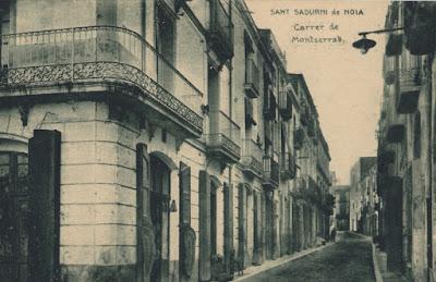 Calle de Montserrat en Sant Sadurní d'Anoia, 1955