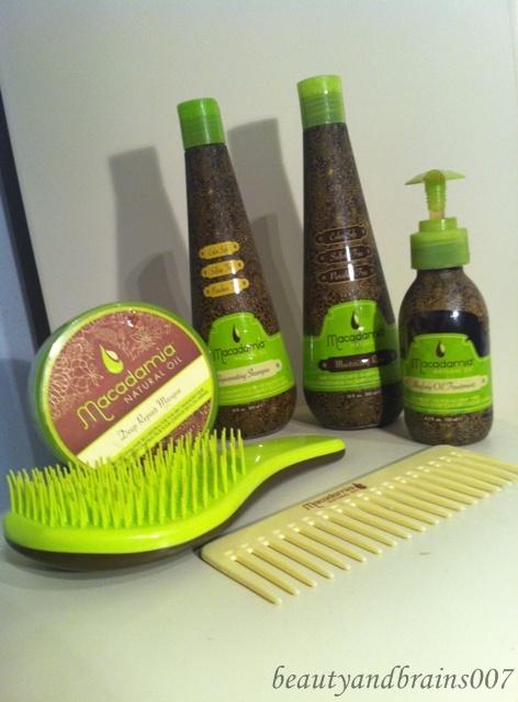 Beautyandbrains007 Macadamia Madness Shampoo Conditioner Mask Oil Oil Infused Comb No Tangle Brush