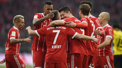 Hightlight Bayern 6-0 Dortmund, 31 Maret 2018