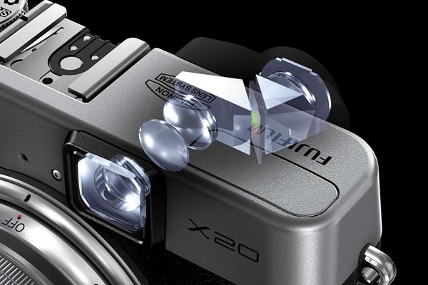 Schema del mirino ottico della Fuji X20