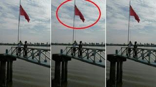 Keterlaluan Lagi Lagi Bendera China Berkibar Di Wilayah Indonesia Kali ini di Banyuasin - Commando