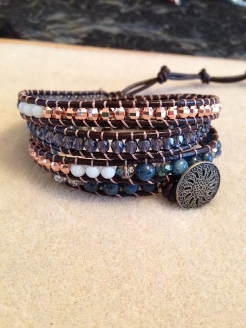 Sparkly Fall/Winter Wrap Bracelets