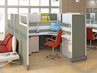 simple office cubicle decoration ideas mixed with wooden flooring and captivating swivel chair