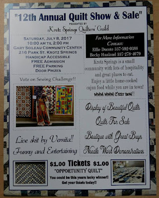 Krotz Springs 12th annual quiltl show poster