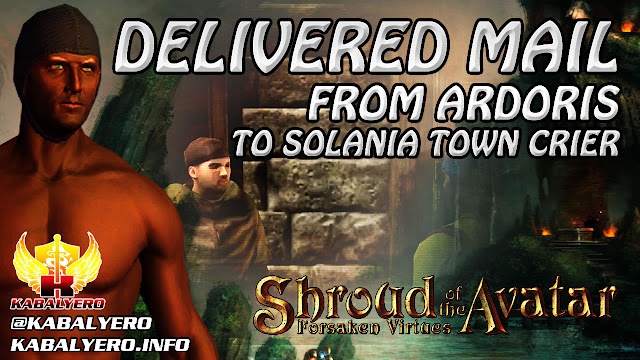 Shroud of the Avatar Gameplay 2016 ★ Delivered Mail From Ardoris To Solania Town Crier