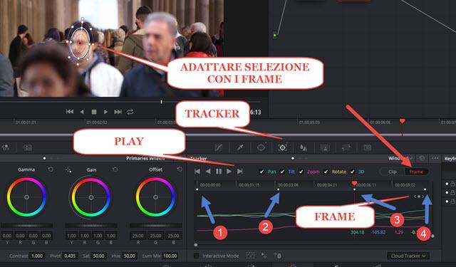 regolare-selezione-frame