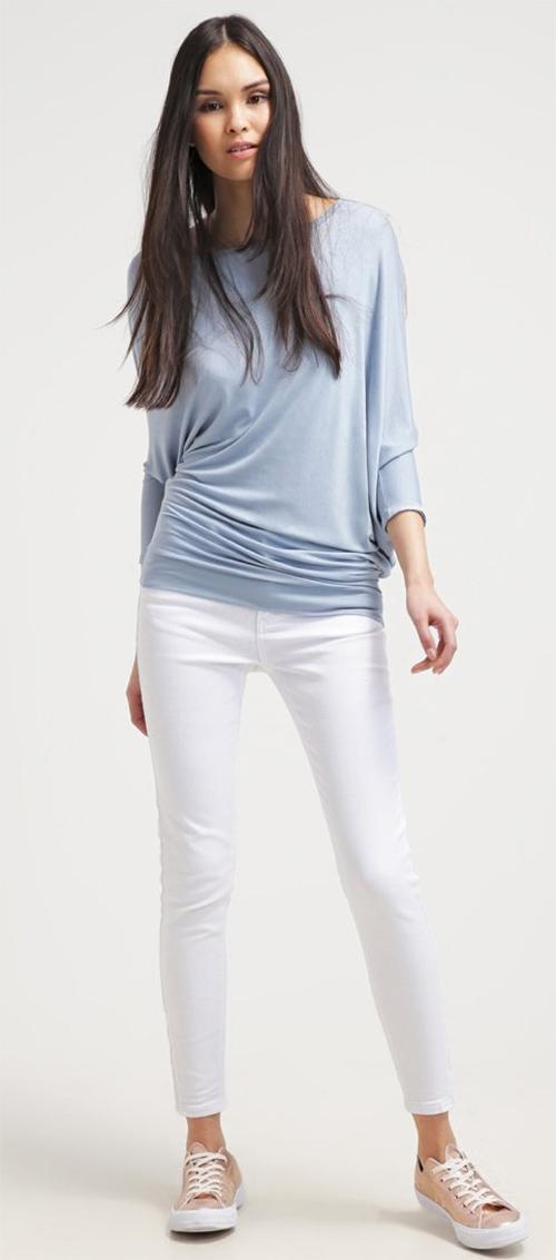 Tee-shirt femme bleu clair Aaiko