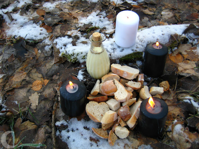 winter solstice - offering of milk and bread