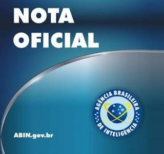ABIN - NOTA OFICIAL