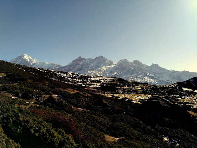 Mt. Pandim and Tenching Khang Peaks