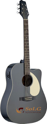 Bán Đàn Guitar Acoustic Stagg SA30DCE-BK