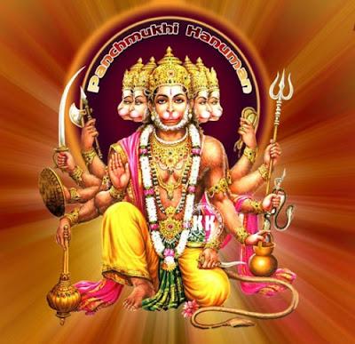 panchmukhi hanuman image,panchmukh hanuman