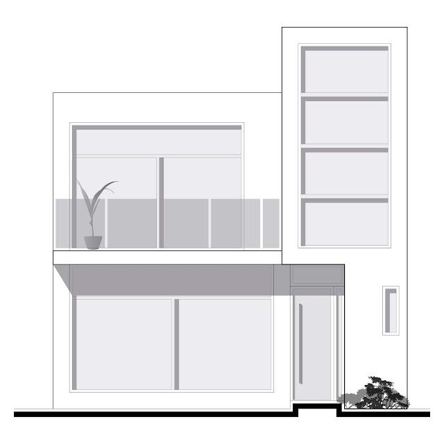 Fachada moderna de casa pequeña