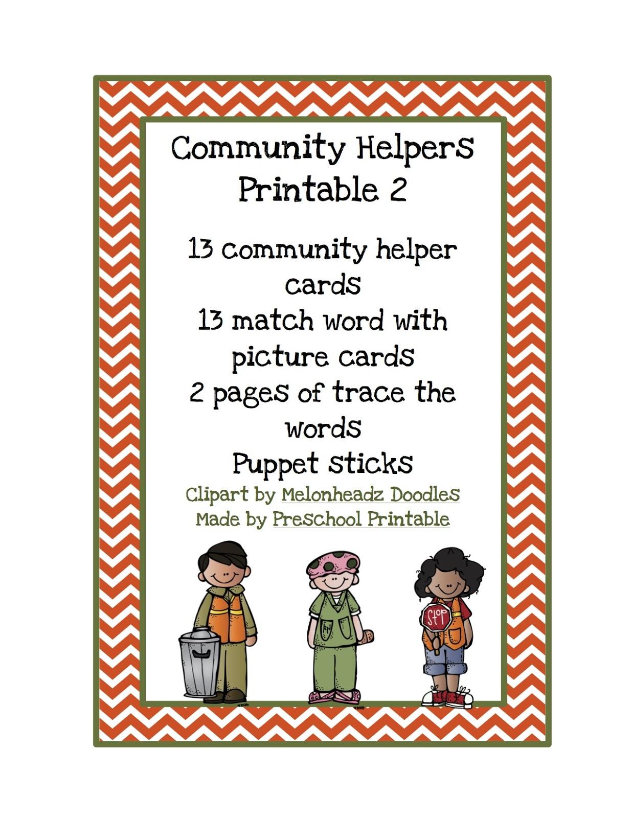 Community Helpers Printable 2 Preschool Printables