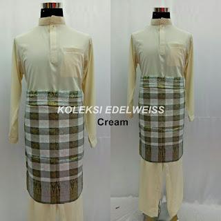 Baju Melayu Cekak Musang  Cream