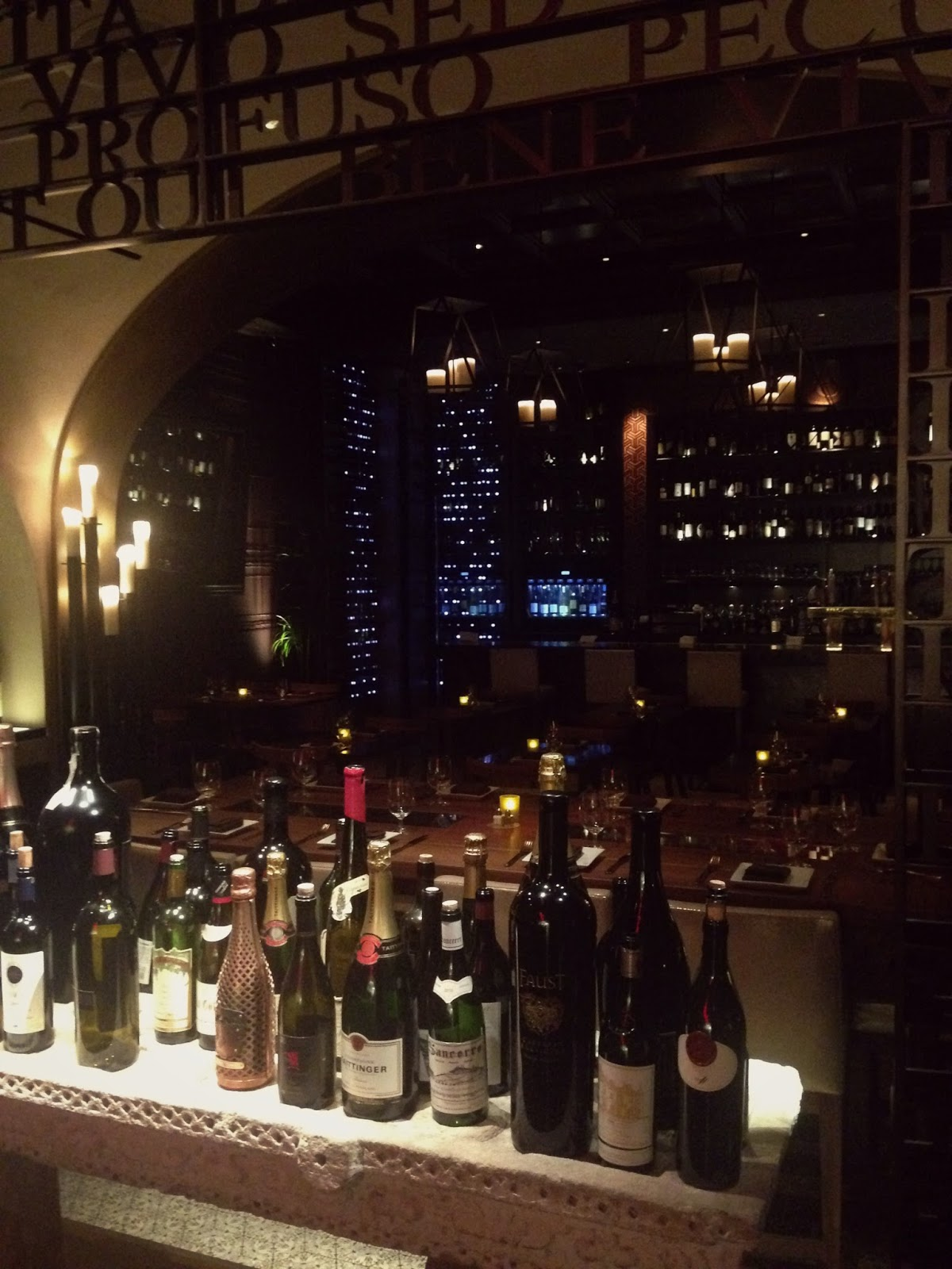 Wine Bar Bottles And Seats