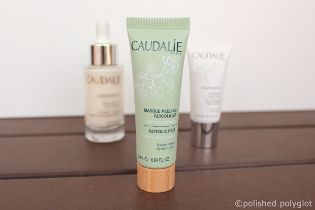 brightening anti dark-spot skincare routine: Caudalie Glycolic Peel mask