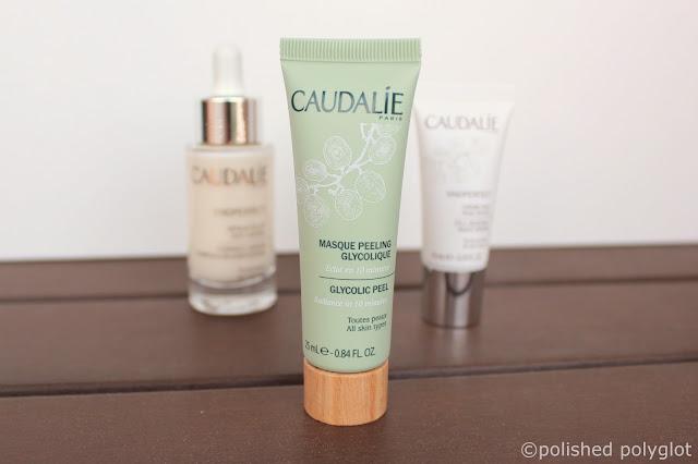 brightening anti dark-spot skincare routine: Caudalie Glycolic Peel mask