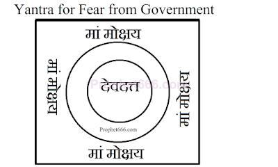 Yantra for Fear from Government prosecution and penalty