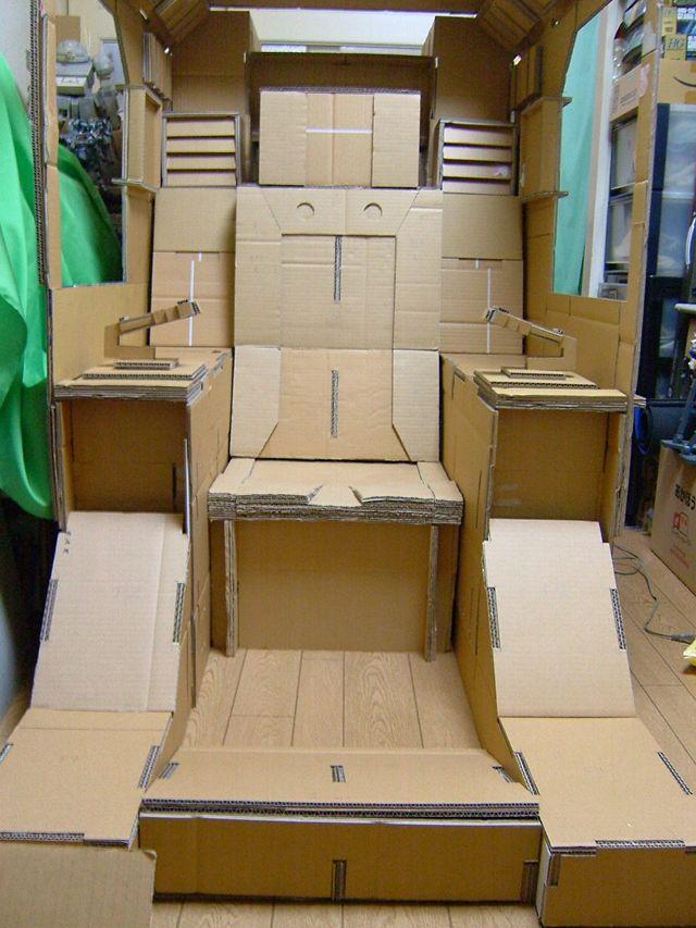 Cool Cardboard Cockpit Seat Gundam Kits Collection News