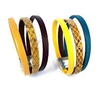 Bracelet cuir motif reptile