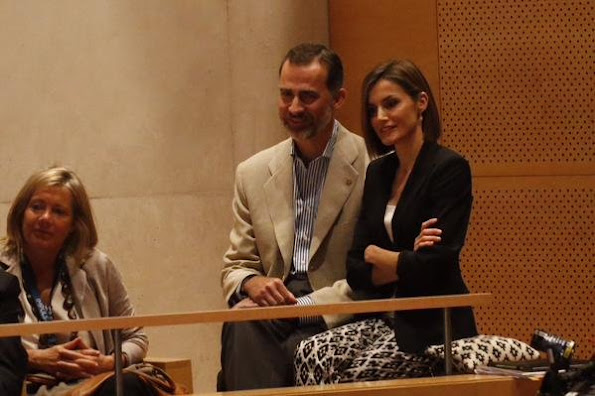 Queen Letizia of Spain and King Felipe VI of Spain attend the 'Forum Impulsa' at the Auditori of Girona