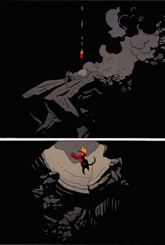 Hellboy in Hell #1. Hellboy created by Mike Mignola Colors: Dave Stewart Letters: Clem Robins Design: Cary Grazzini.