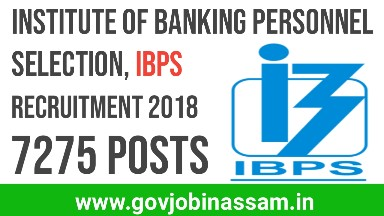 IBPS CRP Clerk VIII Recruitment 2018,govjobinassam