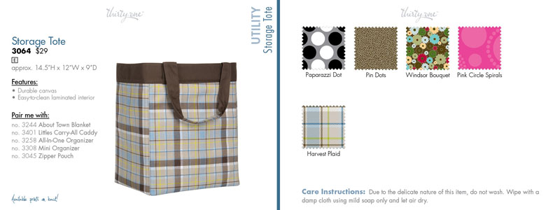 One of my lucky readers is going to win a storage tote in the brown pin dot pattern. Itu0027s just like the one pictured here except this one is the plaid ...  sc 1 st  The Socialiteu0027s Closet & BlogPOP: Win a storage tote from Thirty-One gifts #BPOPCW - The ...