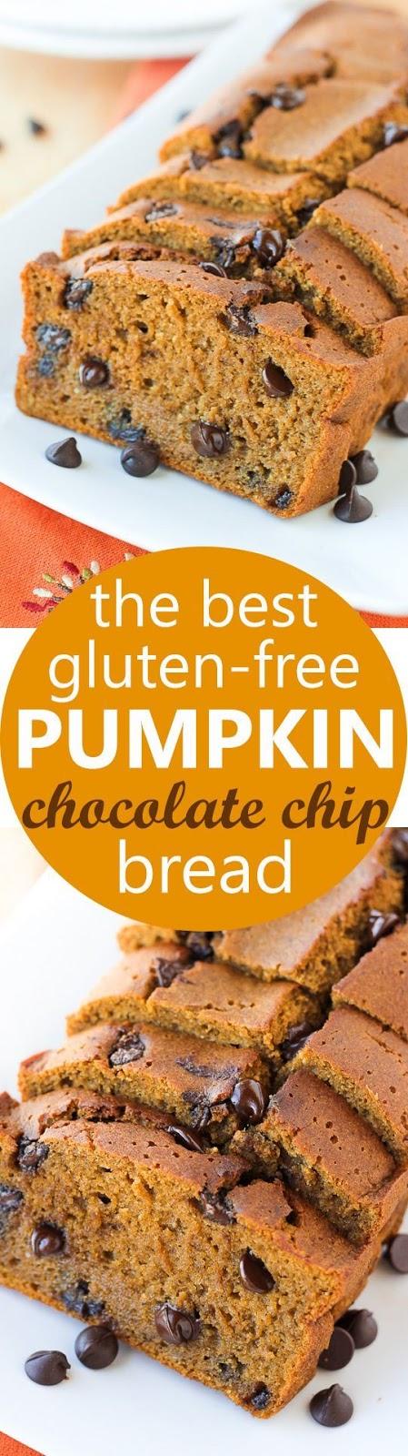 the best gluten-free pumpkin chocolate chip bread