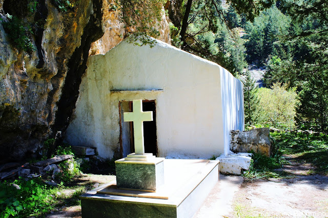 Samaria Settlement Chapel Samaria Gorge Hike Crete Greece