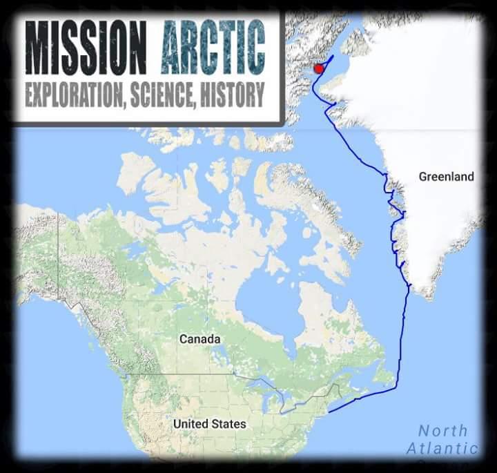 MISSION ARCTICs SV EXILES Sails Across Degrees North Latitude - Greenland latitude