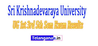 VSKU UG 1st 3rd 5th Sem Exam Results 2017