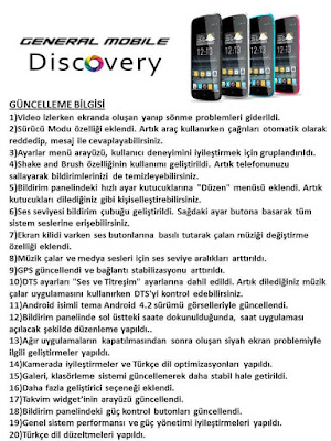 General Mobile Discovery için 4. güncelleme geldi