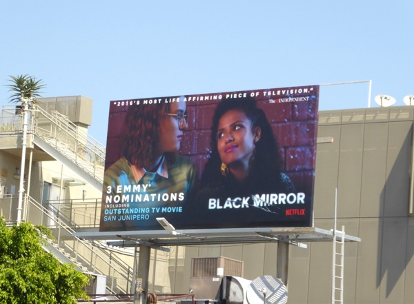 Black Mirror San Junipero Emmy nominee billboard