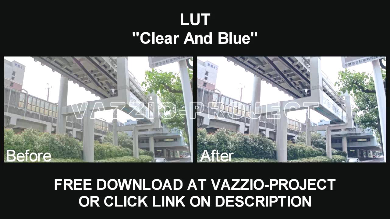 LUT Preset - Clean & Blue VSCO #4 Project Template