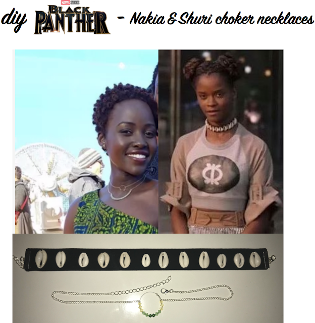 diy marvel's black panther movie choker necklaces inspired by Nakia and Shuri