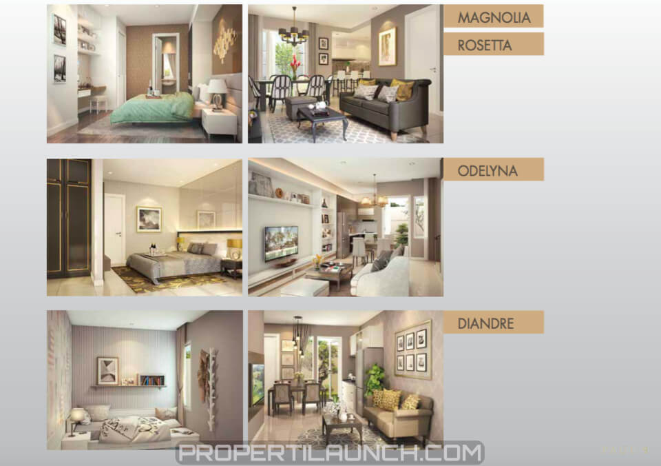Contoh Interior Design Rumah Alegria Park BSD