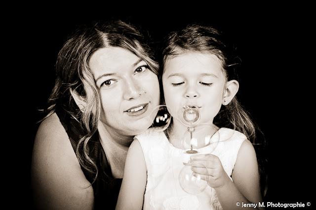 portrait mère fille en sépia
