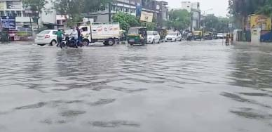Rains falling from this morning in Faridabad, all the municipal corporations filed pole