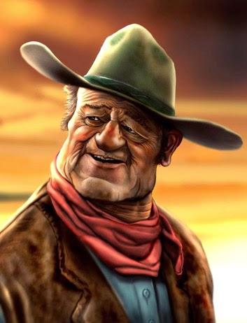 John Wayne caricature