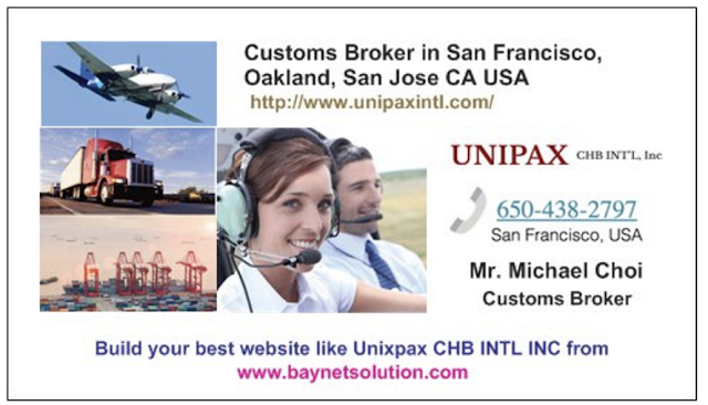 We are expert of US customs broker in San Francisco, clearance & brokerage, freight forwarding, international shipping in Oakland CA USA