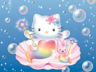 Gambar Hello Kitty Berenang Putri Duyung Cantik Lucu