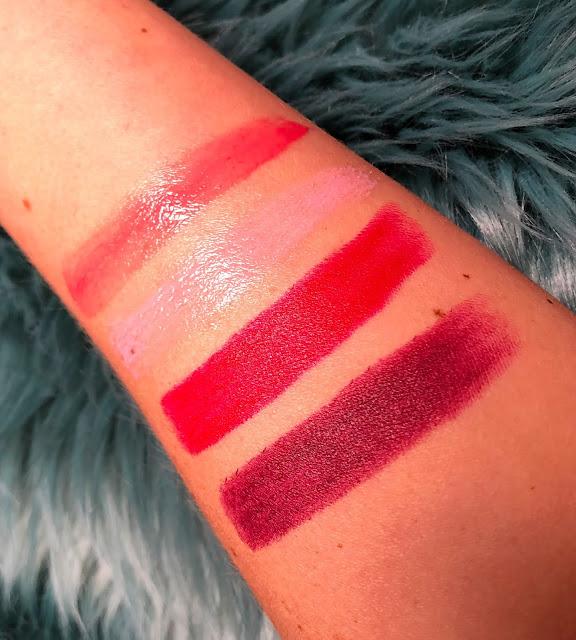 Avon | Swatches | Gloss Duo & Lipstick's