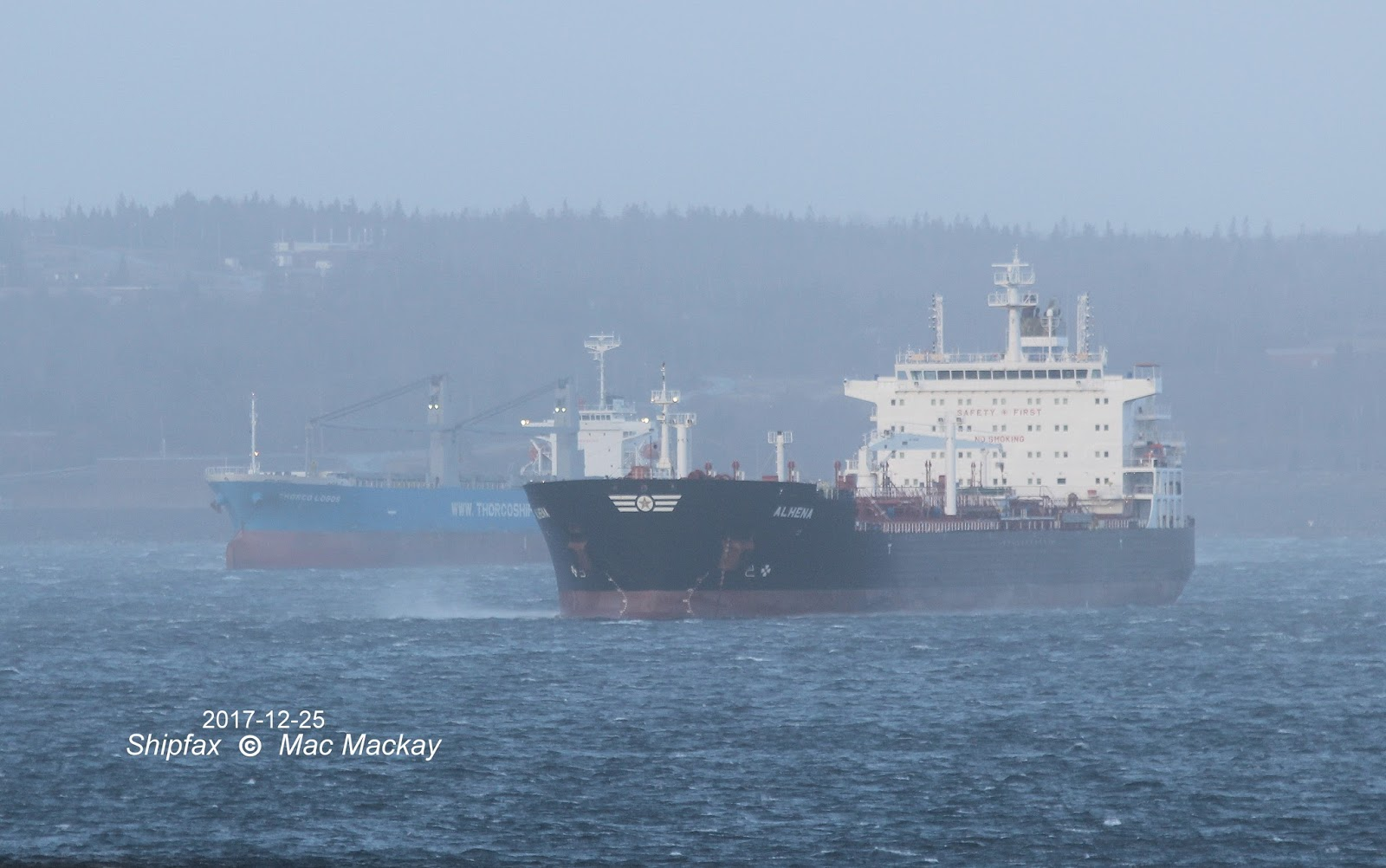 hight resolution of alhena in blustery conditions with the cargo ship thorco logos in the background joined fagelgracht another of the spleithoff f class ships