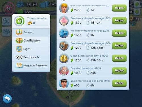 tareas concurso alcaldes simcity buildit