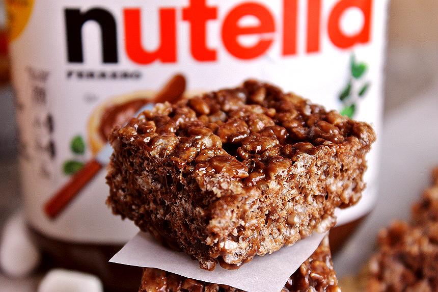Nutella Crisped Cereal Bars Recipe