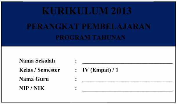 Prota Kelas 1 Kurikulum 2013 Revisi Semester 1 dan 2